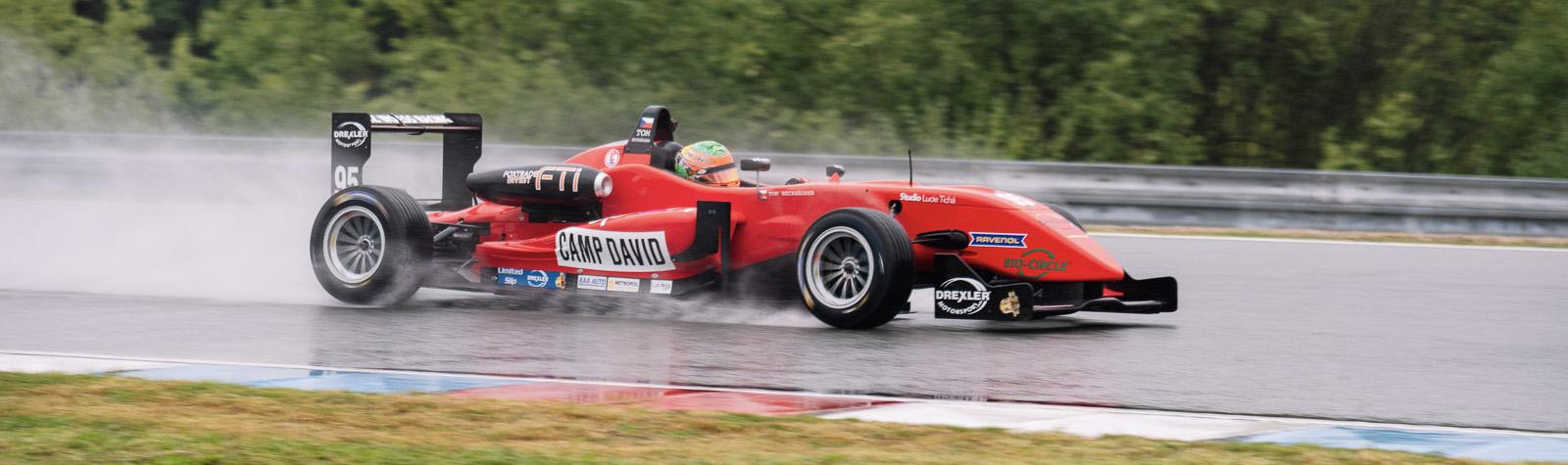 Beckhäuser won the Saturday wet race